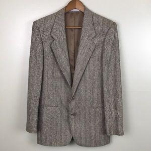 YVES SAINT LAURENT Dillards Brown Tweed Blazer